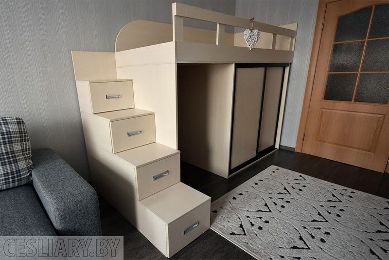 Детская кровать «Белая вежа»